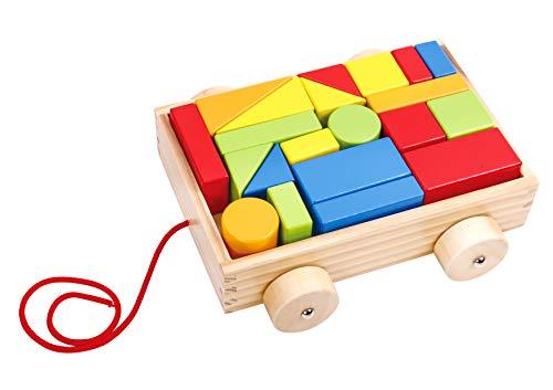 Tooky Toys tkb369 houten miniblok en rol, meerkleurig