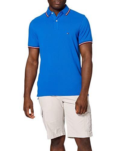 Tommy Hilfiger Herren Tommy Tipped Slim Polo Polohemd, Bio Blau, L