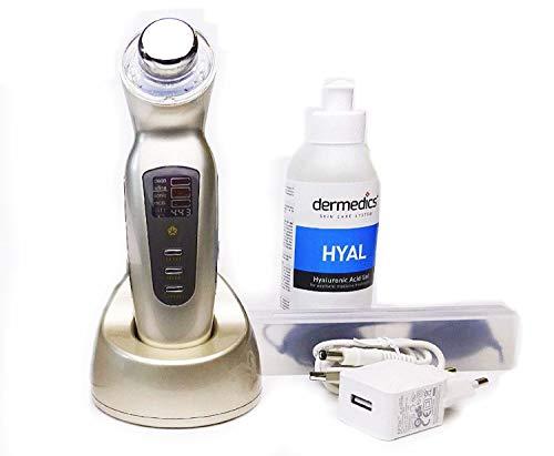 Appareil cosmétique à ultrasons 3 MHz pour le corps et le visage Galvanic Photon Lichtinkl + 250 g d'acide hyaluronique