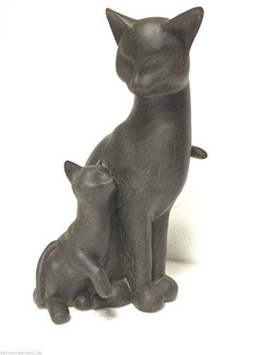 dekowonderland Colourliving - Statuetta Decorativa a Forma di Gatto, Altezza 34 cm