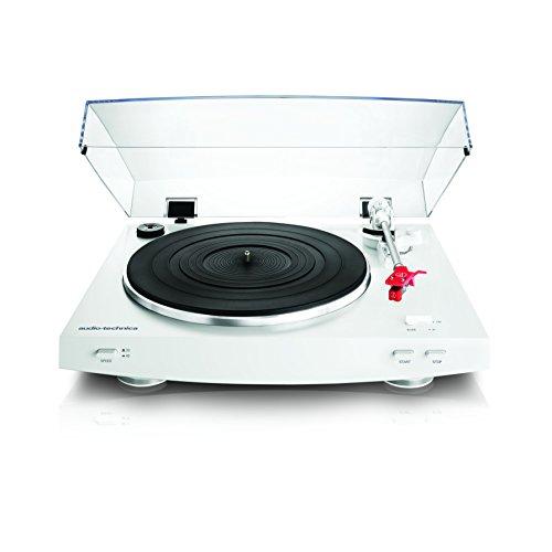 Audio-Technica AT-LP3WH Vollautomatischer Stereo-Plattenspieler mit Riemenantrieb, Universaltonarm und Tonabnehmersystem - Weiss