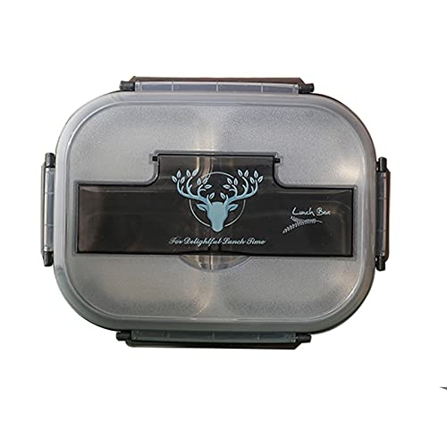 Qric Dining box stainless steel tiger lunch box student When the box adult office worker insulation lunch box large capacity separated plate (Color : C)