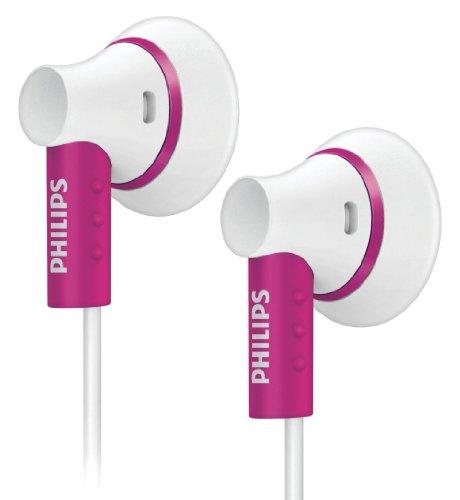 Philips SHE3000PK/10 In-Ear Kopfhörer (15 mm Lautsprechertreiber, Neodym-Magnet) weiß/pink