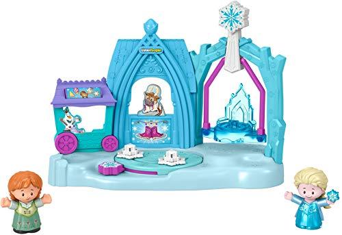 Fisher Price Conjunto de Juego Reino Helado de Arendelle de Frozen de Disney de Little People (Mattel GPB34)