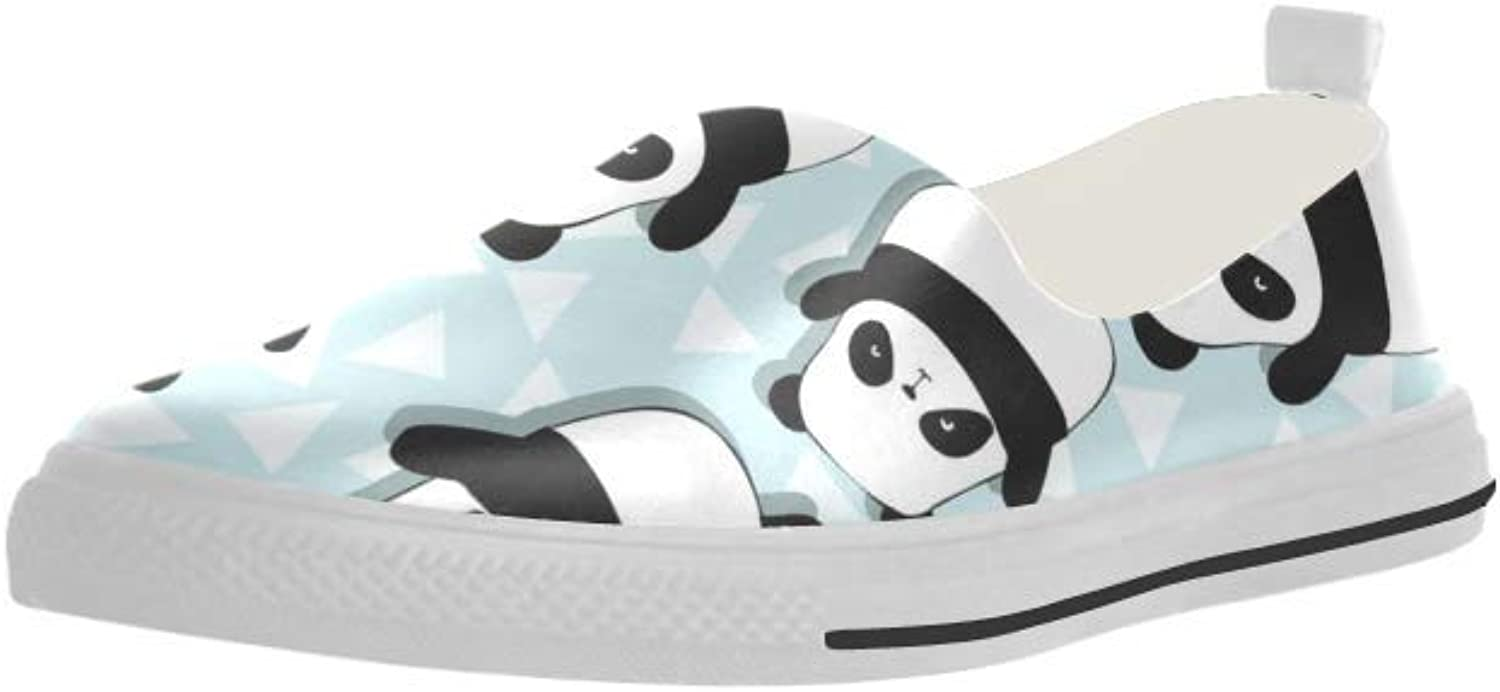 HUANGDAISY Pandas Slip-on Microfiber Rubber Out-Sole EVA Insole shoes for Womens