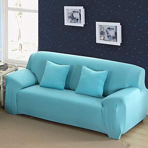 WXQY Funda de sofá elástica Azul, Funda de sofá elástica de Color sólido, Funda de sofá de Esquina, Funda de sofá de Sala de Estar Todo Incluido A5 1 plazas
