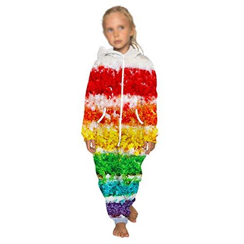 weiwei Kids Baby Kleurrijke Regenboog Playsuit Onesie Graffiti Jumpsuit pyjama Lange mouw Rits Regenboog Sportkleding Slaapmode Jongens Meisjes Hoodies Lange mouw