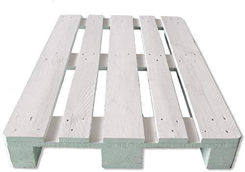 Palets de Madera pintados de Blanco de 120x80x14.5cm para muebles y decoración con Pallets, Lijados y Cepillados