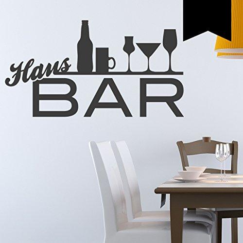 Wandkings Wandtattoo Hausbar 50 x 27 cm schwarz - erhältlich in 33 Farben