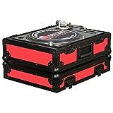 Odyssey FR1200BK Red Designer Series DJ Turntable Case