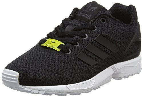 adidas Unisex-Kinder ZX Flux Low-Top, Schwarz (Black/Black/Ftwr White), 40 EU