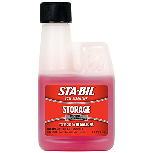 STA-BIL Storage Fuel Stabilizer - Guaranteed To Keep Fuel Fresh Fuel Up To Two Years - Effective In All Gasoline Including All Ethanol Blended Fuels - For Quick, Easy Starts, 4 fl. oz. (22205)