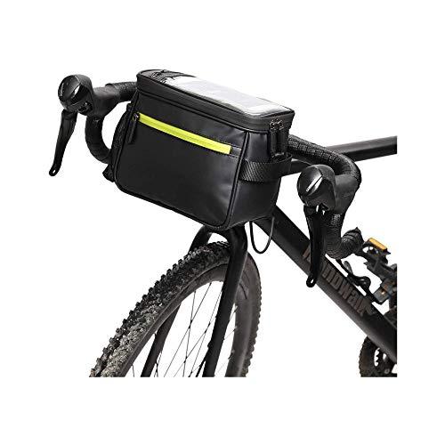 DDFGG Fahrrad Lenkertasche, Fahrrad Lenkertasche Multifunktionale wasserdichte Fahrradtasche, Abnehmbarer Schultergurt, Schultertasche