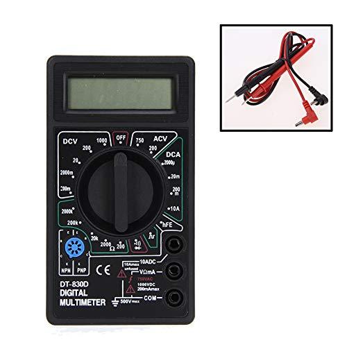 prettygood7Digital Multimeter Ohm Voltmeter Amperemeter Avo Meter DT830D Test führt LCD