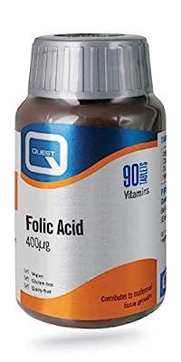 Quest Folic Acid 400mcg - 90 Tablets by Quest Vitamins