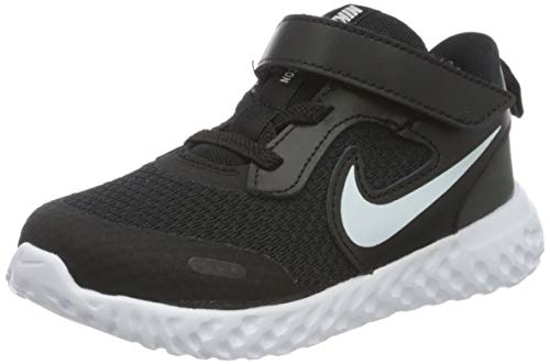 NIKE Revolution 5, Zapatillas, Negro (Black White Anthracite), 39 EU