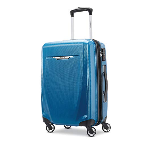Samsonite Winfield 3 DLX Hardside Luggage, Blue/Navy, Carry-On