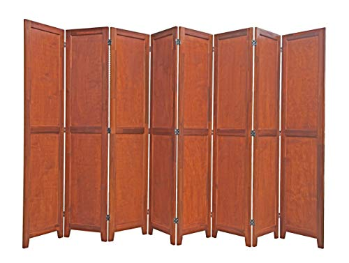 Best Buy! Urnporium 8 Panel Wooden Room Divider Partition Privacy Screen 2 Way Hinges