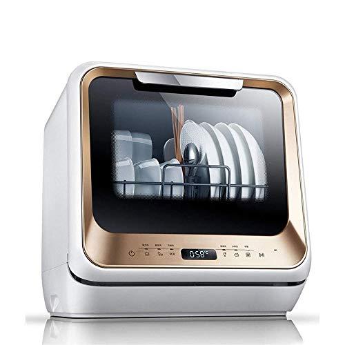 LKNJLL Compact Lave-Vaisselle -Portable Lave-Vaisselle Countertop avec intérieur en Acier Inoxydable et 4 Couverts en Rack for Appartement Argenterie Panier Bureau et Maison Cuisine