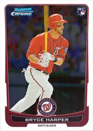 2012 Bowman Chrome Draft Baseball #10 Bryce Harper Rookie Card