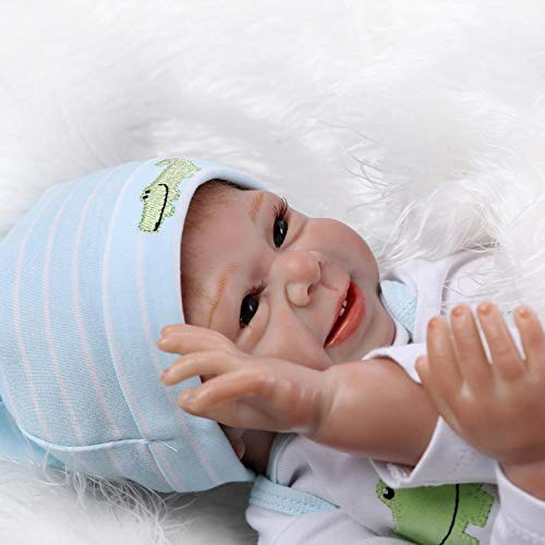 ZHANGZ 22 inch 55 cm reborn baby doll girl soft silicone real life doll handmade newborn reborn baby boy and girl toy toddler sleeping girl