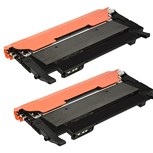 UKKU Reemplazo Compatible del Cartucho de tóner para Samsung CLT-K404S para Usar con la Impresora Samsung SL-C430W C480FW C482FW con Chip Negro Amarillo Cyan Magenta Kit Black*2