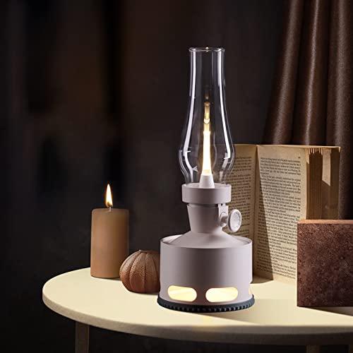Lampada da Tavolo Retrò LED Luce Notturna Dimmerabile Ricaricabile,Decorato Lampada da Comodino Lampada da Scrivania Vintage,per Bambini Camera da Letto Ufficio Soggiorno Illuminazione Decorativa