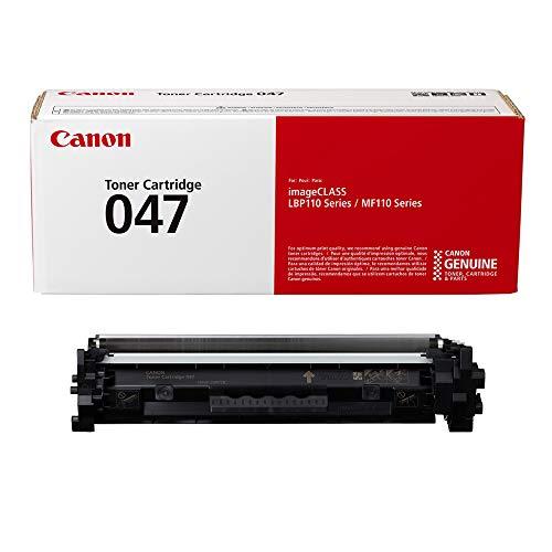 Canon Genuine Toner, Cartridge 047 Black (2164C001), 1 Pack, for Canon imageCLASS LBP113w, MF113w Laser Printers