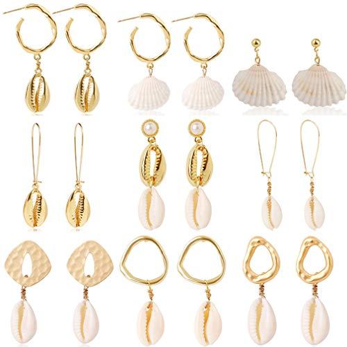 Ulalaza 9 paar gesimuleerde parel druppel oorbel bedel sieraden accessoires voor Prom partij bal