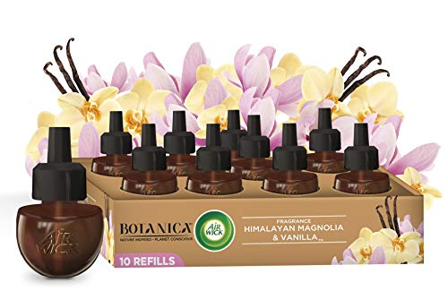 Botanica by Air Wick Plug in Scented Oil, 10 Refills, Himalayan Magnolia and Vanilla, Air Freshener, Eco Friendly, Essential Oils