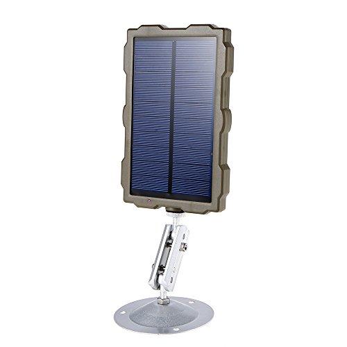 scosao Panel Solar para Cámara de Caza DC 6V Solar Power Bank con Batería de Litio Recargable de 17000 mAh, Cargador Solar Portatil Externa Impermeable para Todas Las Cámaras de Caza Fototrampeo