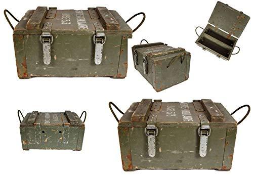 2 Stück Französische Holzkiste Base 3/3 Seilgriffe gebraucht 47 x 32,5 x 26 Lagerkiste Truhe Armeekiste 27,48€/Stück