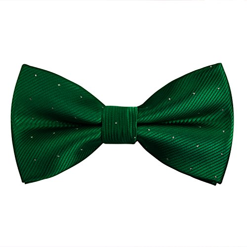 Alizeal Mini Topos -Pajarita Anudada Ajustable para Hombre Verde Oscuro