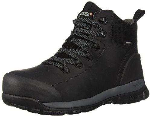 Bogs Men's Foundation Leather Mid Composite Toe Waterproof Industrial Work Boot, Black, 10 D(M) US