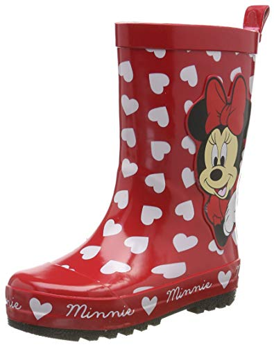 Minnie Mouse Girls Kids Rainboots Boots, Bottes & Bottines de Pluie Fille, (Red Red), 26 EU