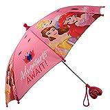 Disney Girls' Little Assorted Character Rainwear Umbrella, Princess, Age 3-6