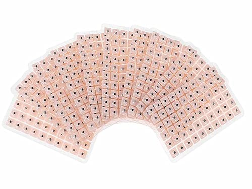 Anlising 600 Stücke Vaccaria Belebt Ohrsamen Pflaster,Akupunktur Vaccaria Ohrsamen,Einweg-Ohrsamen,Multi-Condition Ohr Samen Akupressur Kit,Disposable Ear Press Patch für Gesundheitsprobleme
