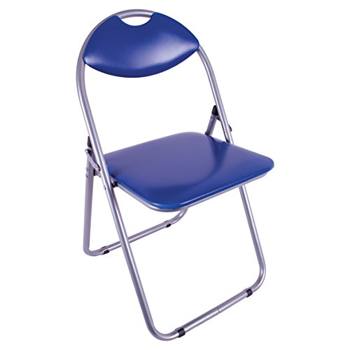 Anika Home 69220 Paris - Silla de Piel sintética, Plegable, cómoda y Duradera, práctica y Elegante, Color Azul, 79,5 x 46 x 43,5 cm