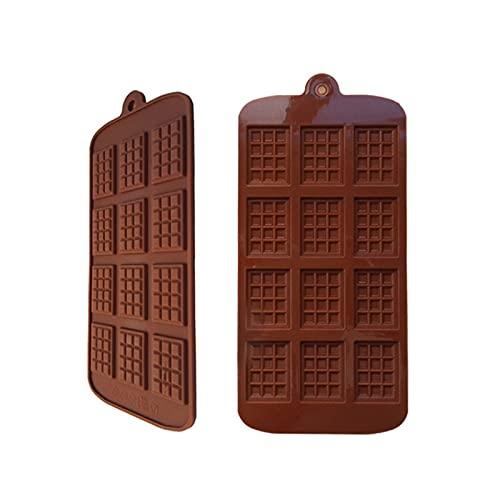 YSJSPKK Moldes de Resina Silicone Mini Bloque de Chocolate Barra Molde Waffle Molde Molde Bandeja de Hielo Decoración de Pastel para Hornear Cake Jelly Candy Tool DIY Moldes Herramienta de Cocina