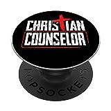 Croix humoristique pour conseiller chrétien PopSockets PopGrip Interchangeable