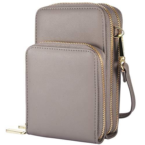 VBIGER Damen Umhängetaschen, Leder Handtasche Frauen Brieftasche Cross-Body Tasche Women Shopper Handy Bag Kleine Mini Tasche