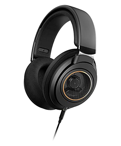 New Philips SHP9600 Wired, Over-Ear, Headphones, Comfort Fit, Open-Back 50 mm Neodymium Drivers (SHP9600/00) – Black