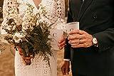 Gobelet de Mariage à Personnaliser, eco Cup personnalisé pour Mariage, Verre Plastique Mariage Fleuri Rose (200)