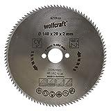 Wolfcraft 6259000 - Disco de sierra circular CV, 100 dient., serie azul Ø 140 x 20 x 2 mm