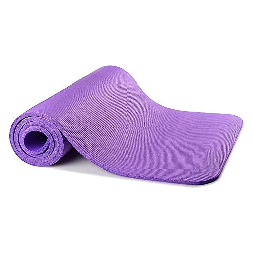 ZZRTEC Esterilla de Yoga,TPE Esterilla Deporte Antideslizante y Alfombra Fitness, Adecuada para Pilates,Yoga, Gimnasia y aeróbic (183 × 61 × 1,0 cm) Purple