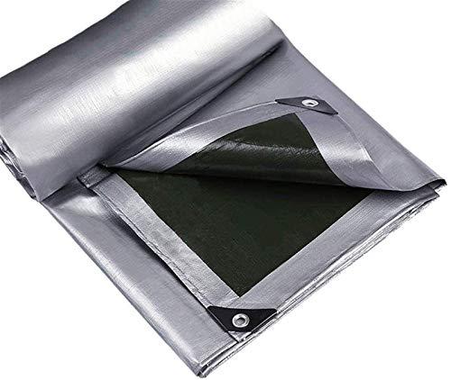 HJHNZDZH PE Tarpaulin, Tarpaulin Waterproof Heavy Duty - Universal Silver Tarp Sheet - Premium Quality Cover Made Of Tarpaulin Furniture Cover Camping Sheet,160/m², (Thickness 0.28mm)