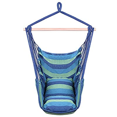 Hanging Hammcok Chair, Sky Chair with Pillows C...