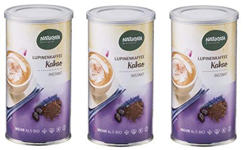 NATURATA Lupinenkaffee Kakao, instant, Dose, Bio, 3 x 175g