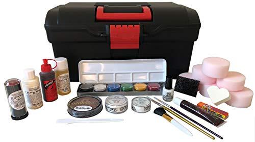 Eulenspiegel 299586 Coffret de Maquillage pour Halloween Noir/Rouge