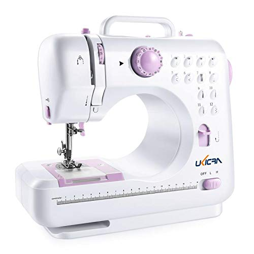 UKICRA Sewing Machine UFR-505 - Electric Mini Sewing Machines, 12 Stitches, Perfect for Beginners
